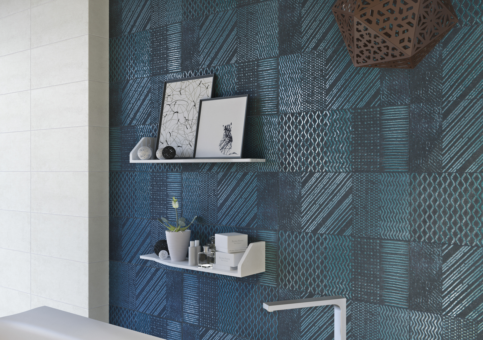 Naxos Raku Ceramic Wall Tile
